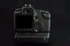 La cámara moderna de DSLR con grande sceen el LCD Fotos de archivo