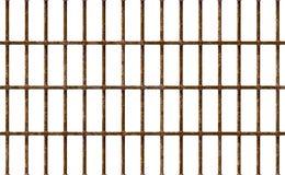 La cárcel realista obstruye oxidado, interior del hierro del fondo de la prisión Células de Brown viejas Enrejado detallado del m libre illustration