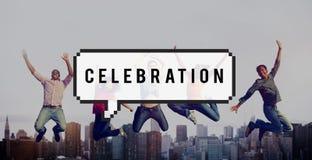 La célébration célèbrent le concept occasionnel de fête d'anniversaire Photographie stock libre de droits