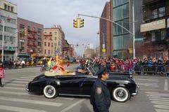 La célébration chinoise de la nouvelle année 2014 dans NYC 81 Images libres de droits