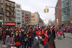 La célébration chinoise de la nouvelle année 2014 dans NYC 10 Photo libre de droits
