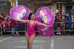 La célébration chinoise de la nouvelle année 2014 dans NYC 12 Image libre de droits