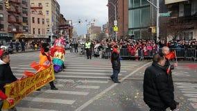 La célébration chinoise de la nouvelle année 2014 dans NYC 14 Photographie stock libre de droits