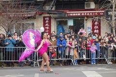 La célébration chinoise de la nouvelle année 2014 dans NYC 15 Photos libres de droits