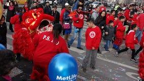 La célébration chinoise de la nouvelle année 2014 dans NYC 16 Images libres de droits