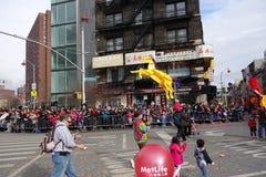La célébration chinoise de la nouvelle année 2014 dans NYC 17 Photo stock