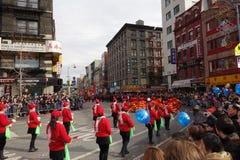 La célébration chinoise de la nouvelle année 2014 dans NYC 24 Photo stock