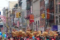 La célébration chinoise de la nouvelle année 2014 dans NYC 28 Images stock