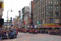 La célébration chinoise de la nouvelle année 2014 dans NYC 31 Photographie stock libre de droits
