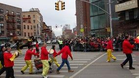 La célébration chinoise de la nouvelle année 2014 dans NYC 38 Images libres de droits