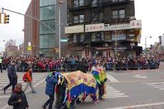 La célébration chinoise de la nouvelle année 2014 dans NYC 51 Image libre de droits