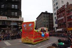 La célébration chinoise de la nouvelle année 2014 dans NYC 54 Images libres de droits