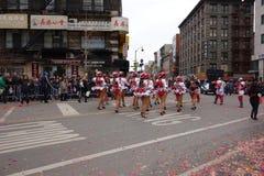 La célébration chinoise de la nouvelle année 2014 dans NYC 64 Photo stock