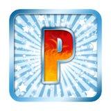 la célébration d'alphabet marque avec des lettres p Photographie stock libre de droits