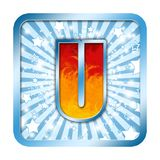 la célébration d'alphabet marque avec des lettres u Image libre de droits