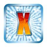 la célébration d'alphabet marque avec des lettres x Images libres de droits