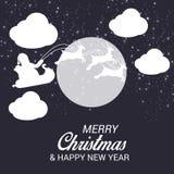 La célébration de festival de Joyeux Noël et la nouvelle année font la fête image libre de droits