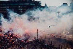La célébration de l'anniversaire du soulèvement de Varsovie à Wroclaw Images libres de droits