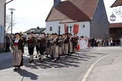 La célébration de la première sainte communion Photo libre de droits