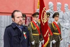 La célébration de Victory Day dans la guerre mondiale 2 peut 9, 2016, dans la région de Gomel de la république de Bielorussie Photos libres de droits