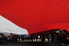 La célébration du Jour de la Déclaration d'Indépendance de l'Indonésie Photo libre de droits