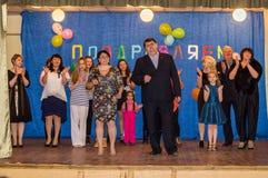 La célébration du jour de mère dans la région de Kaluga (Russie) le 29 novembre 2015 Photo libre de droits