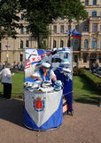 La célébration du jour de marine à St Petersburg Image libre de droits