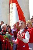 La célébration du jour de victoire à Moscou. Photographie stock