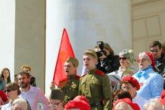 La célébration du jour de victoire à Moscou. Image stock