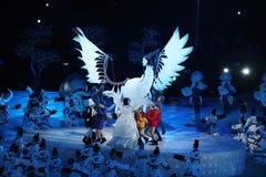 La cérémonie d'ouverture de 2018 Jeux Olympiques d'hiver photographie stock libre de droits
