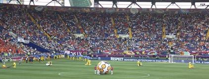 La cérémonie d'ouverture de l'euro 2012 à Kharkov Images libres de droits