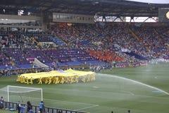La cérémonie d'ouverture de l'euro 2012 à Kharkiv Photo libre de droits