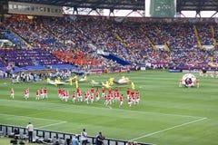 La cérémonie d'ouverture de l'euro 2012 à Kharkiv Photos stock
