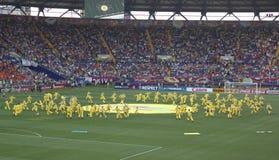 La cérémonie d'ouverture de l'euro 2012 à Kharkov Images stock