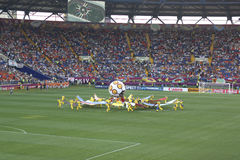 La cérémonie d'ouverture de l'euro 2012 à Kharkov Photo libre de droits