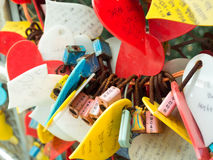 La cérémonie de clé d'amour au parc de Yongdusan Images stock