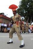 La cérémonie de frontière d'Attari Photos stock