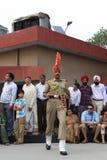 La cérémonie de frontière d'Attari Image libre de droits