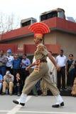 La cérémonie de frontière d'Attari Images stock