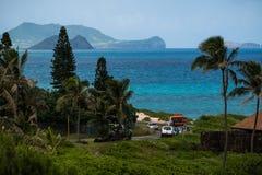 La côte au vent d'Oahu image stock