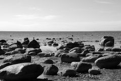 La côte baltique. l'Estonie. Photo stock