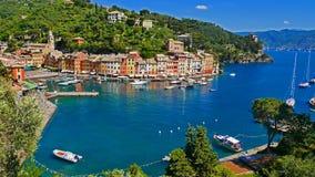 La côte colorée dans Portofino, Italie Photos stock