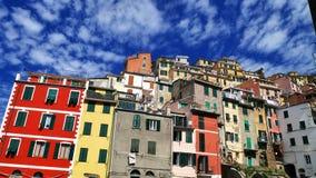 La côte colorée en Cinque Terre, Corniglia, Italie Photo libre de droits