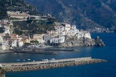 La côte d'Amalfi image stock