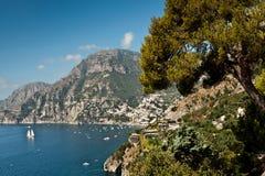 La côte d'Amalfi Images stock