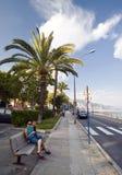 La Côte d'Azur dans Menton Photographie stock