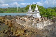 La côte de l'île de Koh Kood, Thaïlande Image stock