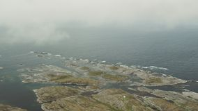 La côte de la Norvège banque de vidéos