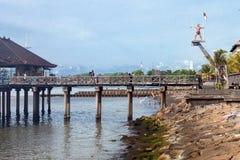 La côte du singaraja image stock
