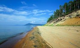 La côte orientale du lac Baikal Images libres de droits